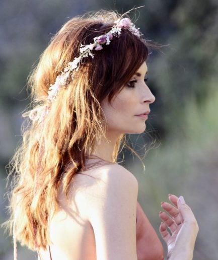 Couronne de mariage Romance - Accessoire de mariage en fleurs séchées et stabilisées - Les Fleurs Dupont