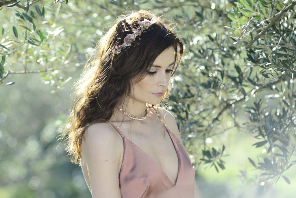 Barrette ROMANCE de mariage en fleurs naturelles - accessoire de mariage en fleurs séchées - Les Fleurs Dupont