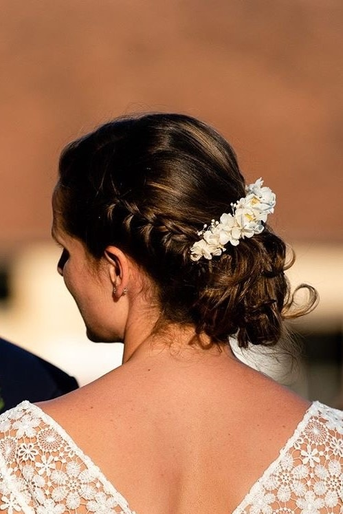 Barrette de mariage Hysope en fleurs séchées et stabilisées
