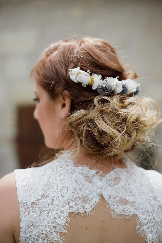 Barrette de mariage Violine - Les Fleurs Dupont