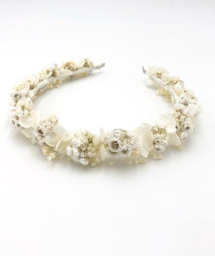 Headband de fleurs Immortelle - Collection Immaculée