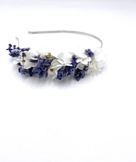 Headband de mariage Violine en fleurs séchées