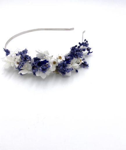 Headband en fleurs séchées Violine