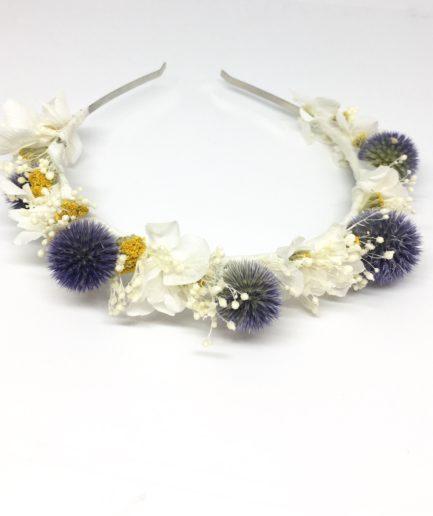 Headband de mariage Violine en fleurs naturelles