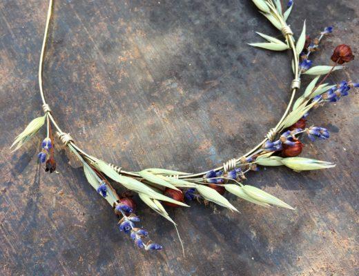 HeadbandHeadband de mariage Cérès en fleurs naturelles - Accessoire mariage en fleurs séchées et stabilisées - Les Fleurs Dupont Cérès - Collection Champêtre