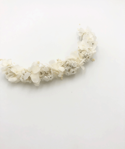 barrette de mariée Immortelle en fleurs séchées