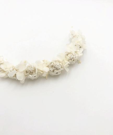 barrette en fleurs séchées Immortelle