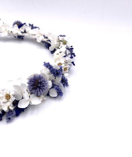Couronne de mariage Violine en fleurs séchées et stabilisées