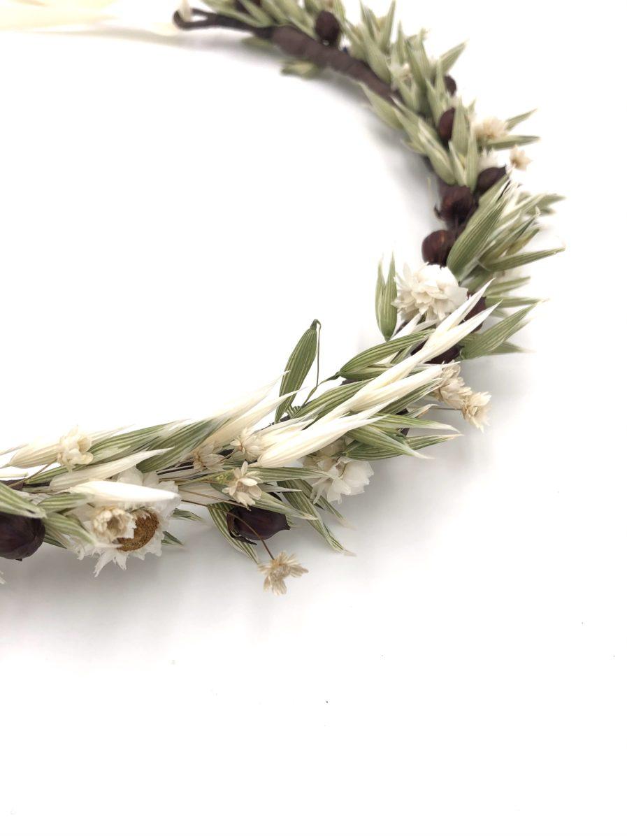Couronne en fleurs séchées Cérès