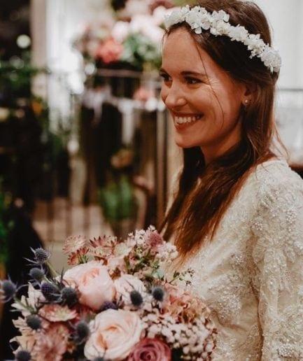 Couronne de fleurs Candide - Les Fleurs Dupont