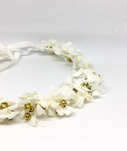 Couronne de mariée Aura en fleurs naturelles séchées et stabilisées - Les Fleurs Dupont