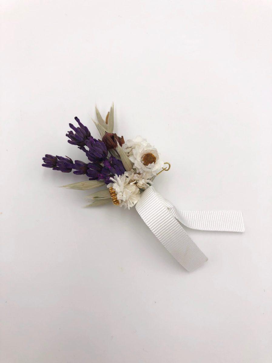 Boutonnière champêtre Cérès pour le marié