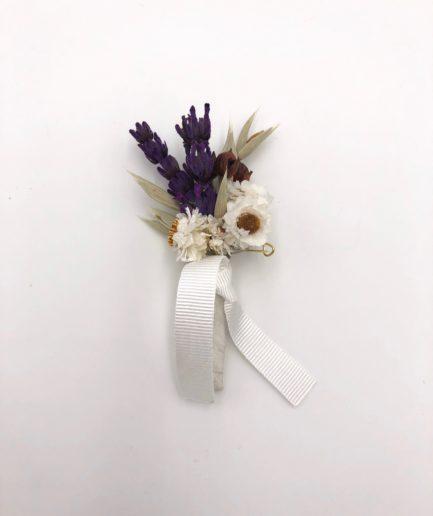 Boutonnière de marié Cérès de style champêtre