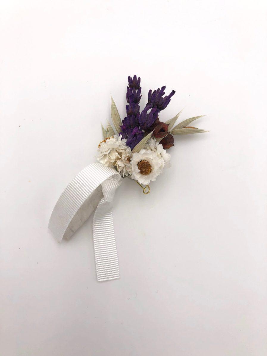 Boutonnière en fleurs séchées Cérès