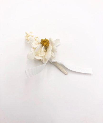 Boutonnière en fleurs séchées Hysope