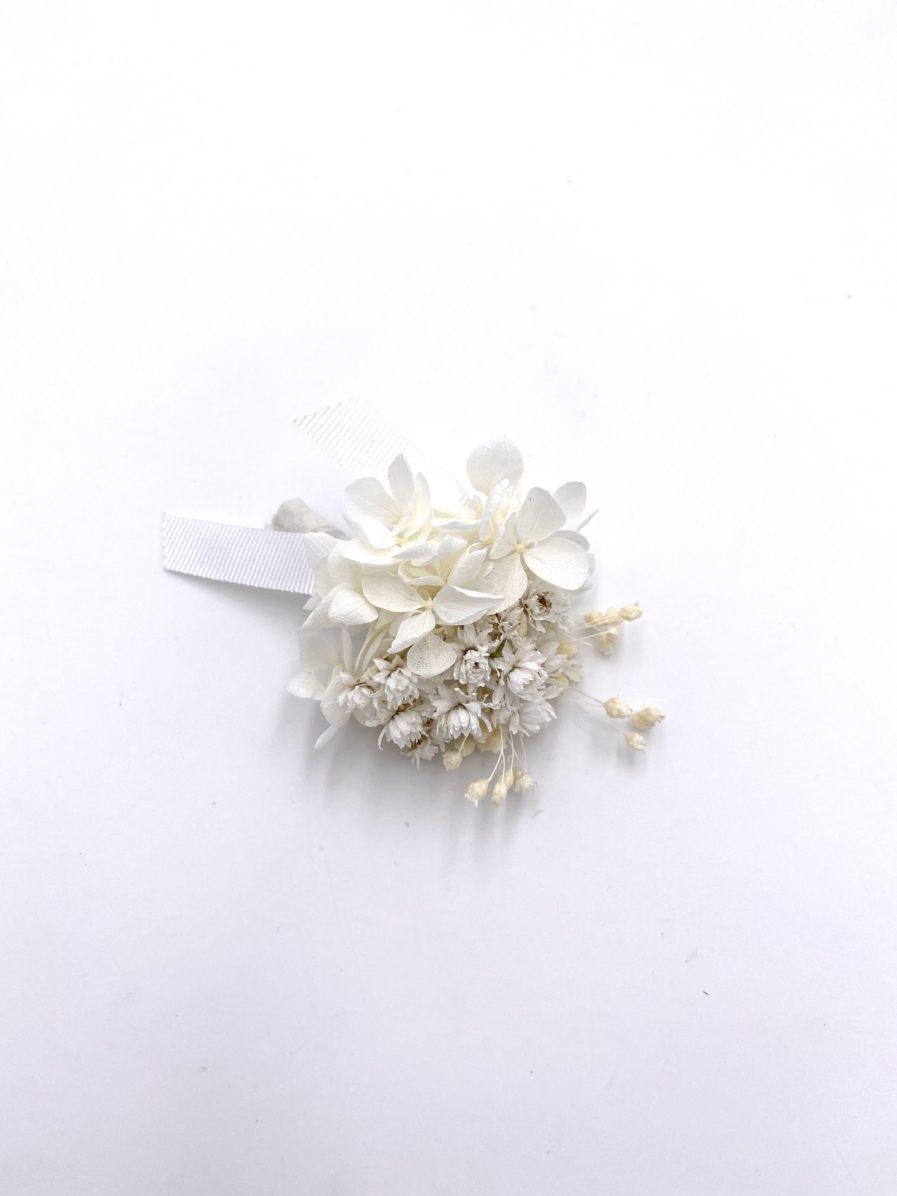 Boutonnière en fleurs séchées Immortelle