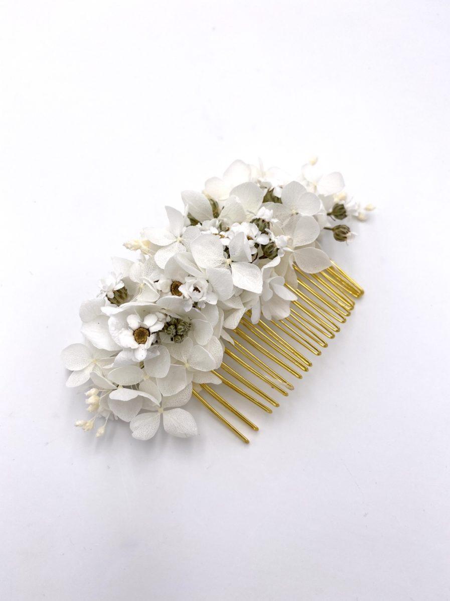 Peigne de fleurs séchées Candide