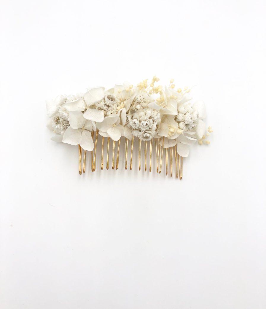 Peigne de mariage Immortelle en fleurs séchées