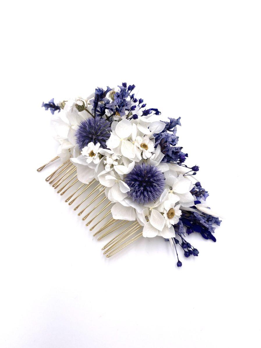 Peigne en fleurs de mariage Violine