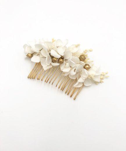 Peigne de fleurs séchées Aura