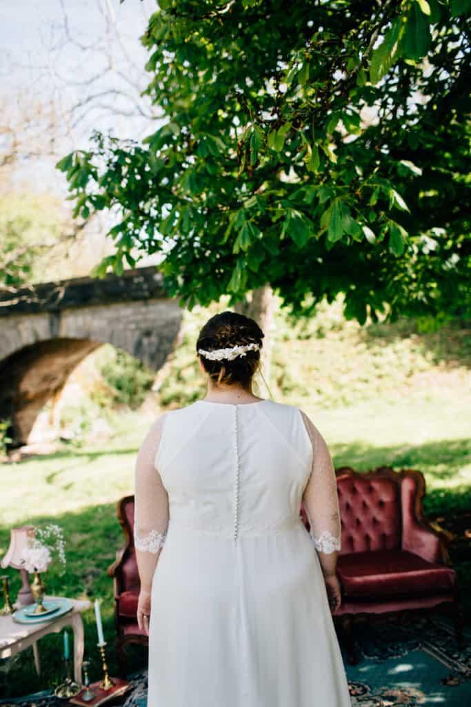 Shooting mariage Kaa Couture barrette de mariage Les Fleurs Dupont