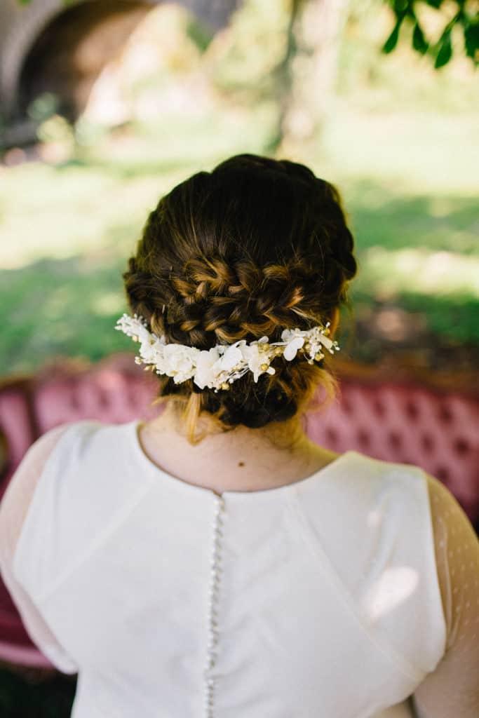 Shooting Kaa Couture avec barrette de mariage Les Fleurs Dupont