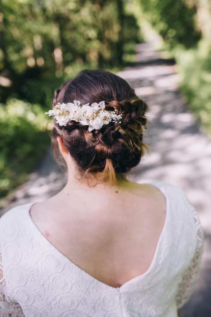 Shooting mariage Kaa Couture Peigne de mariage Les Fleurs Dupont