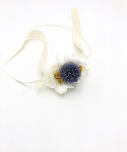 Bracelet de demoiselles d'honneur Violine en fleurs stabilisées