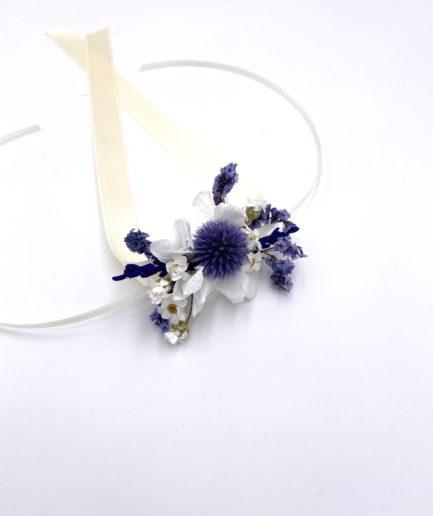 Bracelet de fleurs séchées Violine