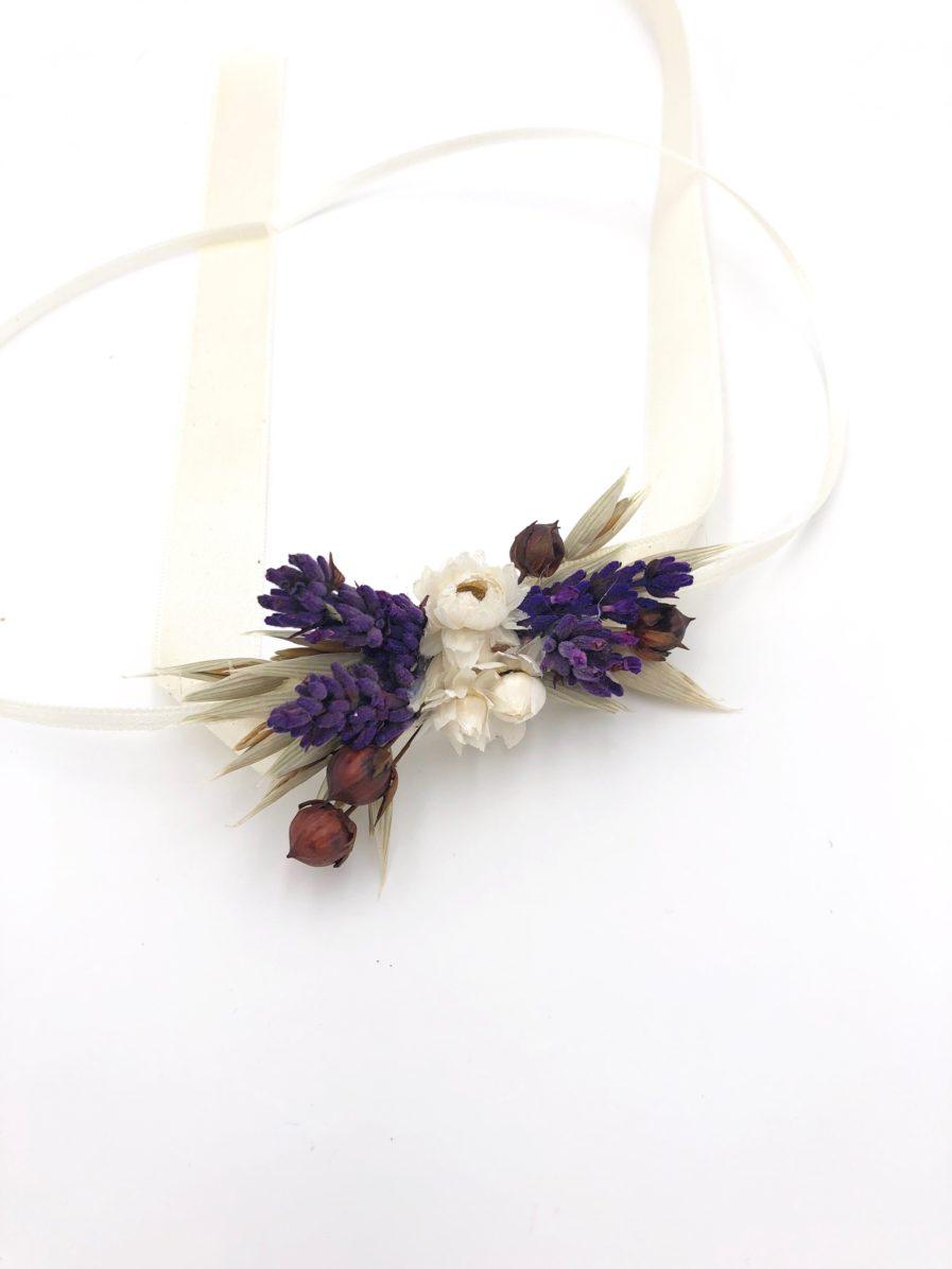 Bracelet de mariage Cérès en fleurs séchées