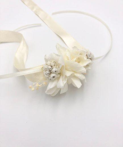 Bracelet de mariage Immortelle en fleurs séchées