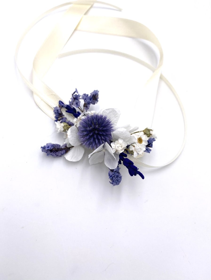 Bracelet de mariage avec echinops Violine