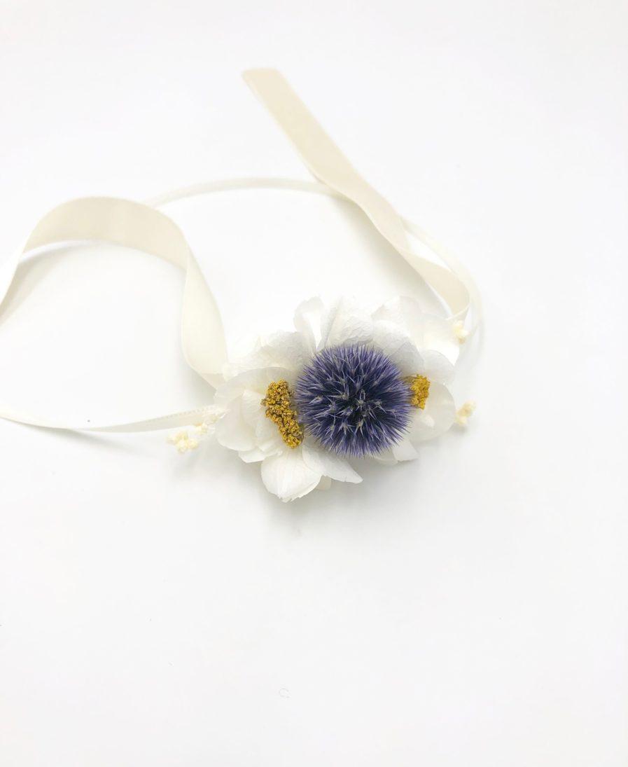 Bracelet en fleurs Violine pour le mariage