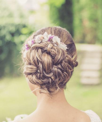 Barrette de fleurs Lilla pour mariage