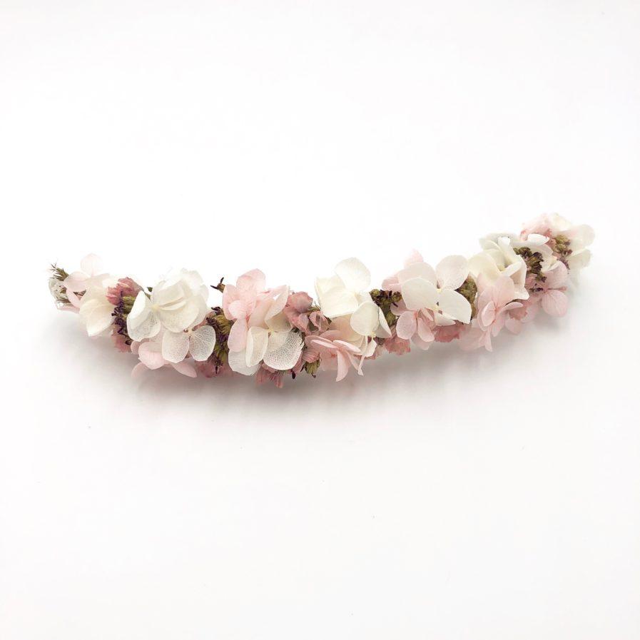 Barrette de mariage Lilla - Tons rose poudré et vieux-rose