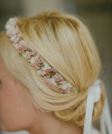 Couronne de fleurs séchées Lilla - notre mariée Ondine