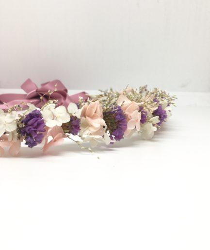 Couronne de mariée Lilla en fleurs séchées