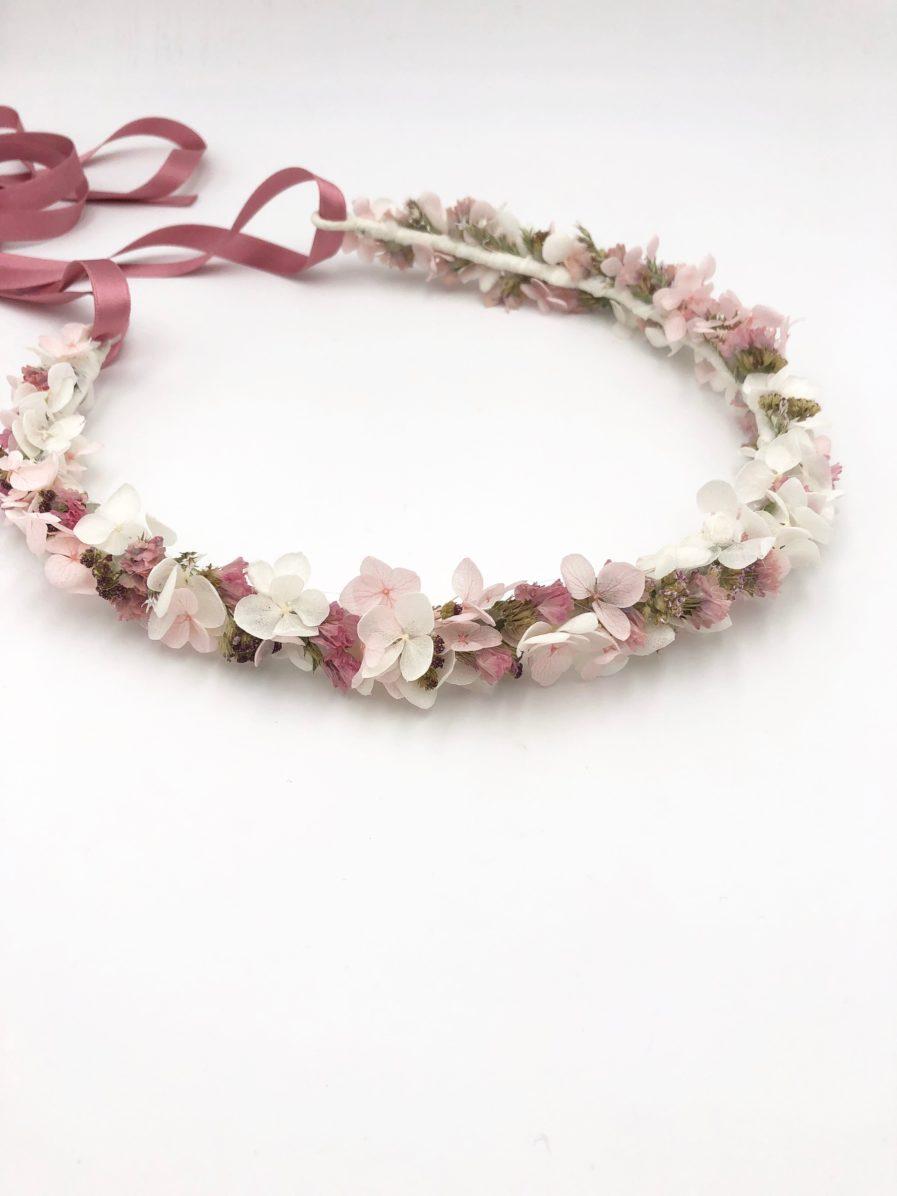Couronne de mariage Lilla en fleurs séchées