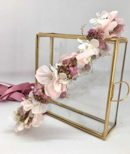 Couronne Lilla - Couronne de mariage en fleurs séchées et stabilisées - Collection Romantique