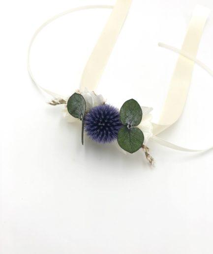 Bracelet de demoiselles d'honneur Céleste en fleurs séchées