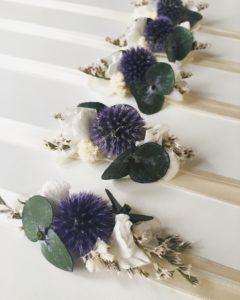 Bracelet de demoiselles d'honneur Céleste - Collection Couture - Demoiselles d'honneur - Tons bleus et ivoire