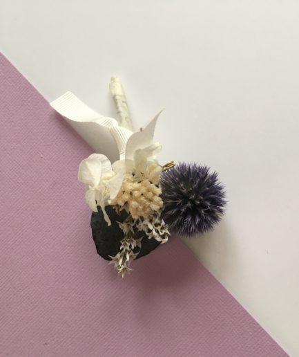Boutonnière Céleste - Boutonnière de mariage - Les Fleurs Dupont