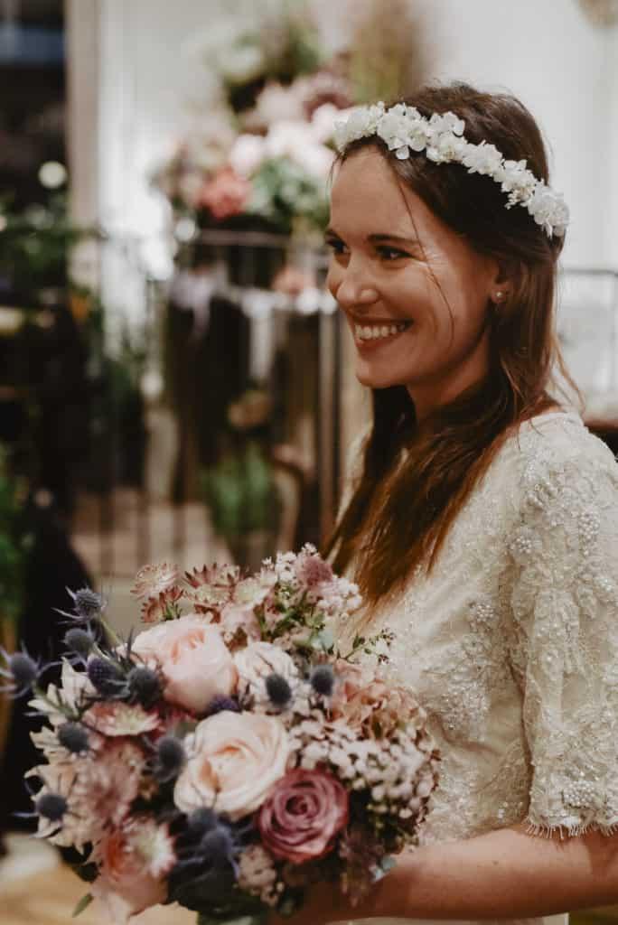 Photographie Audrey Rutz - Bouquet Aude Rose - Couronne de mariage les Fleurs Dupont