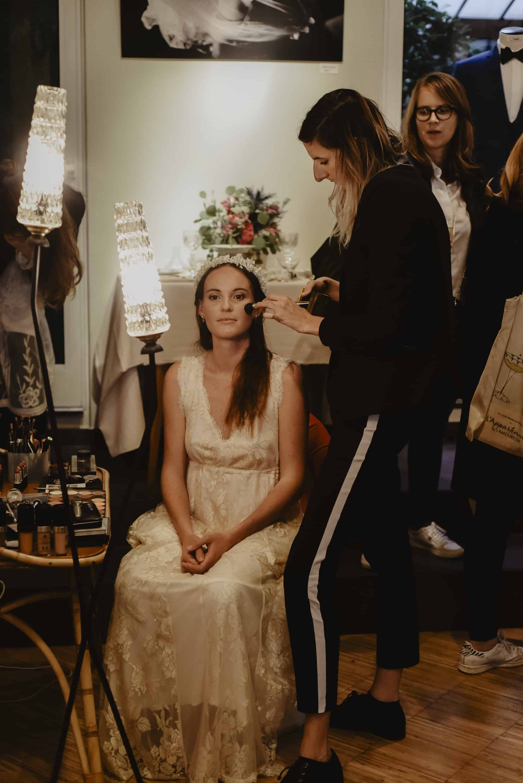 Angelina Bergese Maquillage - Artisans créateurs lors de l'Appartement by Ingrid Fey