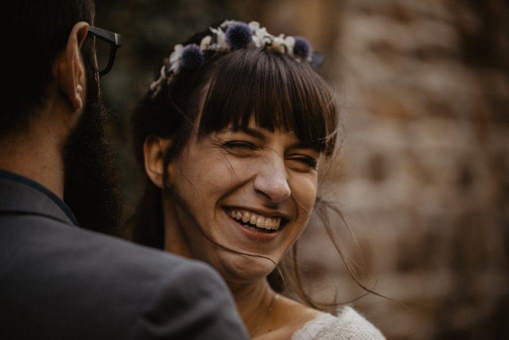 Headband de mariage Céleste en fleurs séchées et stabilisées