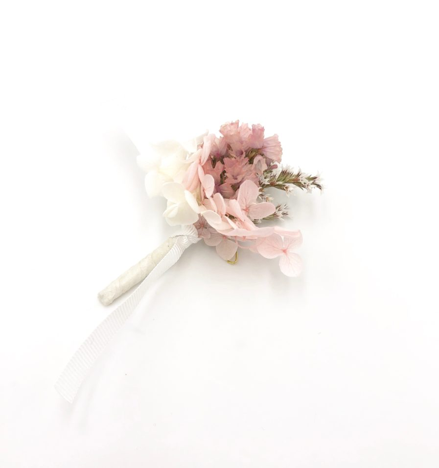 Boutonnière en fleurs Lilla - Collection Romantique