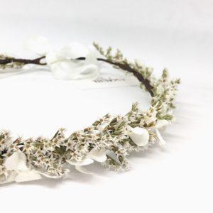 Couronne de fleurs de mariée Aster en fleurs séchées et stabilisées - Collection 2018 - Couronnes de fleurs