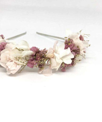 Headband de mariée Lilla - Couleur rose - Collection romantique -Fleurs Dupont - Collection 2018