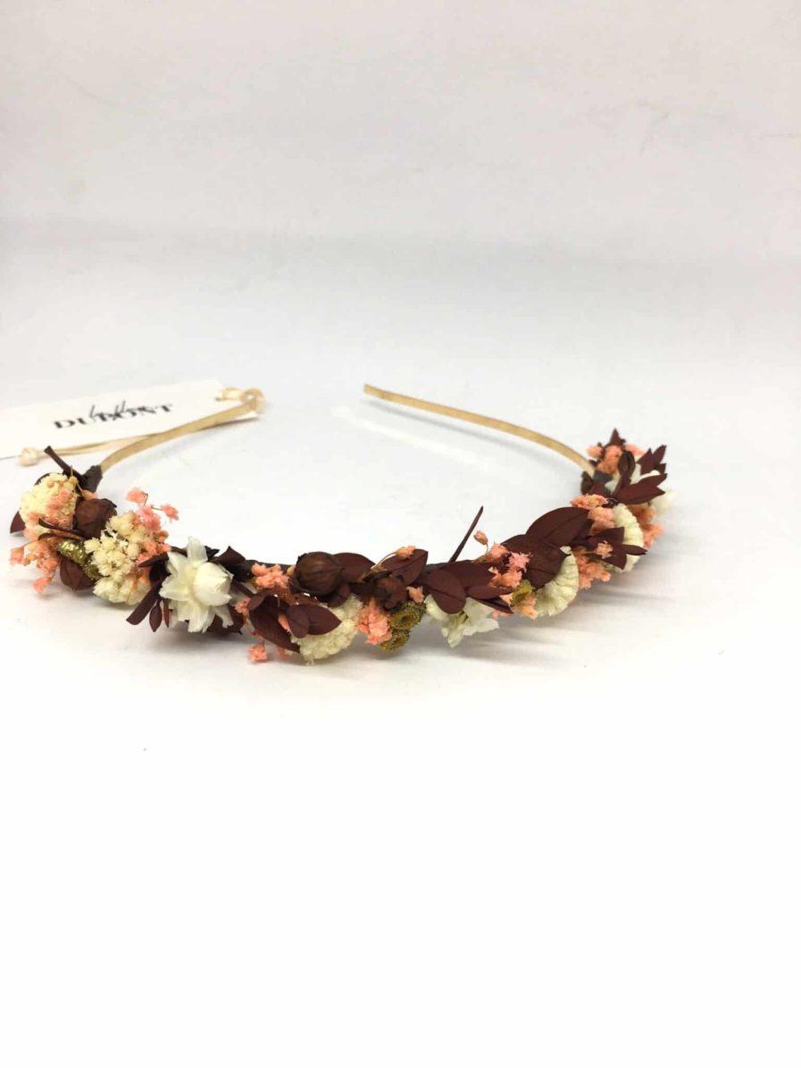 Headband de mariage en fleurs Rhéa - Collection Champêtre - Fleurs Dupont - Accessoires de mariage - bijou de tête chic