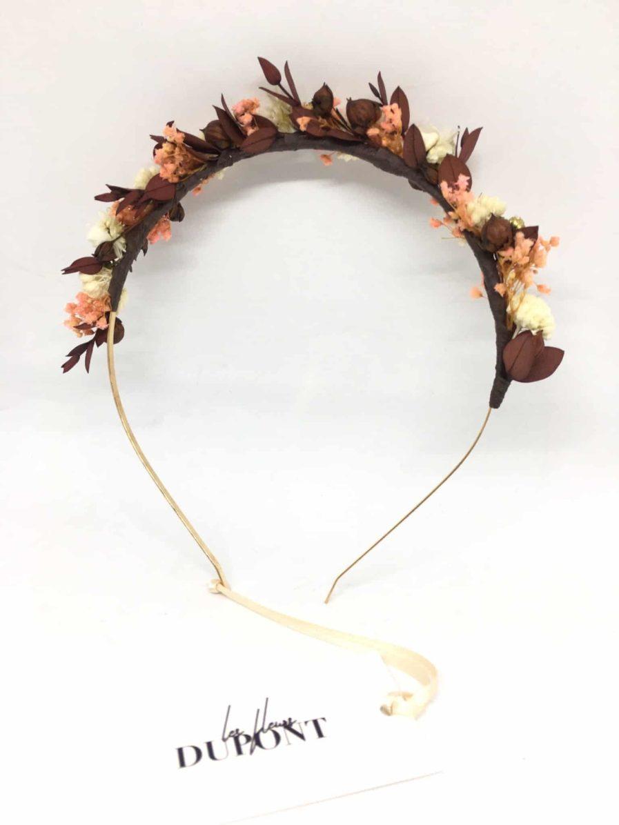 Headband de mariage en fleurs Rhéa - Collection Champêtre - Fleurs Dupont - Accessoires de mariage -